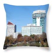 Wichita Skyline Throw Pillow