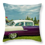 Wicked 1955 Chevy Profile Throw Pillow