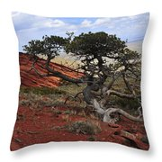 Wicked Tree And Red Rocks Throw Pillow by Roger Snyder