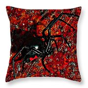 Wicked Widow - Rouge Throw Pillow