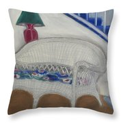 Wicker Couch Throw Pillow