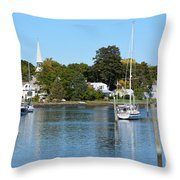 Wickford Village Waterfront Throw Pillow