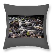 A River In The Wicklow Mountains, Ireland. Vision # 2 Throw Pillow