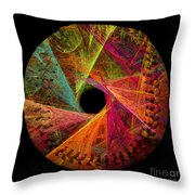 Wide Eye Color Delight  Baseball Square Throw Pillow