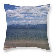 Wide Pan At Sandpoint Throw Pillow