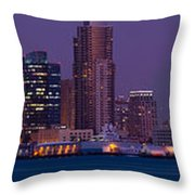 Wide Panoramic Of Scenic San Diego Throw Pillow