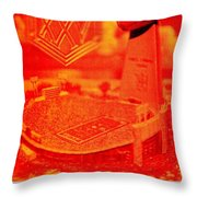 Wide Right Throw Pillow