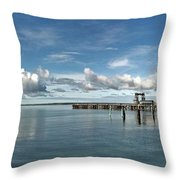 Wide View Of Kingscote Bay Throw Pillow