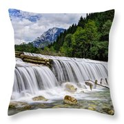 Wide Waterfall Throw Pillow