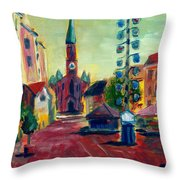 Wienerplatz Study Throw Pillow
