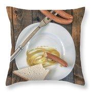 Wieners Throw Pillow by Joana Kruse
