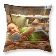 Wienie Washer Throw Pillow