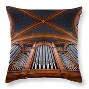 Wiesbaden Marktkirche Organ Throw Pillow