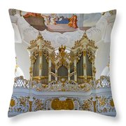 Wieskirche Pipe Organ Throw Pillow
