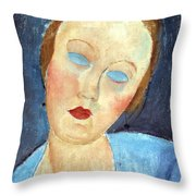 Wife Of The Painter Survage Throw Pillow by Amedeo Modigliani