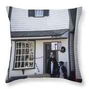 Wigmaker And Barber Shop Williamsburg Virginia Throw Pillow