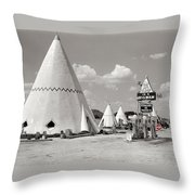 Wigwam Village #2 Coca-cola Sign Marion Post Wolcott  Cave City Kentucky July 1940-2014 Throw Pillow