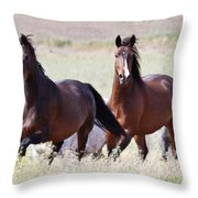 Wild And Free In The Field Throw Pillow