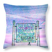 Wild At Heart Floral And Gifts Throw Pillow