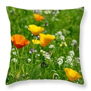 Poppies 3 - Wild At Heart Throw Pillow