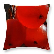 Wild Berries Of The Wetlands 3 Throw Pillow
