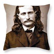 Wild Bill Hickok Painterly Throw Pillow by Daniel Hagerman
