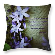 Wild Blue Flowers And Innocence 2 Throw Pillow