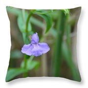 Wild Blue Orchid Throw Pillow
