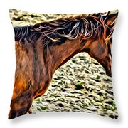 Wild Bronc Throw Pillow