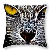 Wild Cat Throw Pillow
