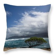 Wild Coast - Laie Point - North Shore - Hawaii Throw Pillow