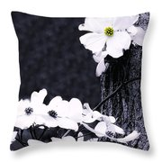 Wild Dogwood Blooms Throw Pillow