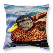 Wild Duck  Throw Pillow