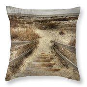 Wild Dunes Beach South Carolina Throw Pillow by Dustin K Ryan