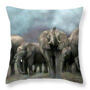 Wild Family Throw Pillow