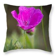 Wild Flower Bloody Geranium Throw Pillow
