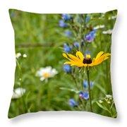 Wild Flower Delight Throw Pillow