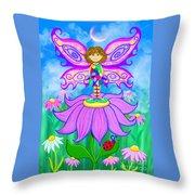 Wild Flower Fairy  Throw Pillow
