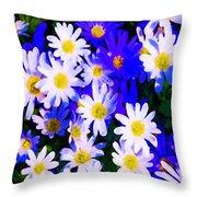 Wild Flowers 3 Throw Pillow
