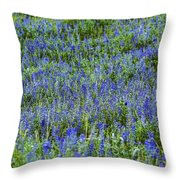 Wild Flowers Blanket Throw Pillow