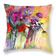 Wild Flowers Bouquets 02 Throw Pillow