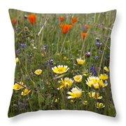 Wild Flowers Russian Ridge Throw Pillow