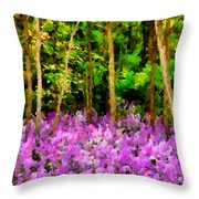 Wild Forest Violets Throw Pillow