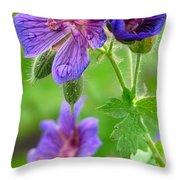 Wild Geranium II Throw Pillow