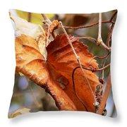 Wild Grapevine Leaf Throw Pillow