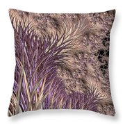 Wild Grasses Blowing In The Breeze  Throw Pillow