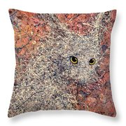 Wild Hare Throw Pillow by James W Johnson
