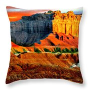 Wild Horse Butte Utah Throw Pillow