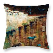 Wild Horse Canyon Throw Pillow