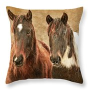 Wild Horse Pair Throw Pillow